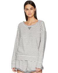 Skin - Charlie Sweatshirt (ivory/navy Stripe) Women's Pajama - Lyst