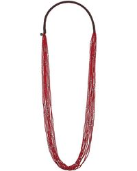 Chan Luu - 10 Strand Scattered Seed Bead Necklace (tango) Necklace - Lyst