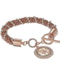 Guess - Toggle Line Bracelet W/ Stones (gold) Bracelet - Lyst