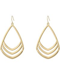 Vince Camuto - Chevron Drop Earrings (gold) Earring - Lyst