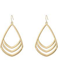 Vince Camuto - Chevron Drop Earrings (silver) Earring - Lyst