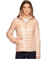 Calvin Klein - Short Packable Down With Hood (shine Blush) Women's Coat - Lyst