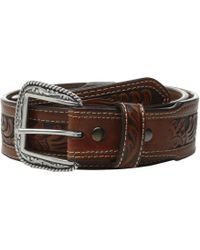 Ariat - Tapered Embossed Inlay Belt (tan) Men's Belts - Lyst
