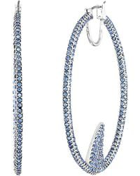 Kate Spade - California Dreaming Pave Shark Hoops Earrings - Lyst