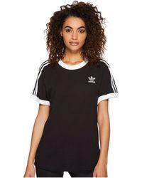 adidas Originals - 3 Stripes Tee (trace Maroon) Women's T Shirt - Lyst