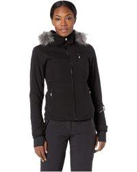 Spyder - Geneva Faux Fur Jacket (black/black) Women's Coat - Lyst