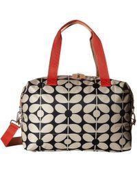 Orla Kiely - Sixties Stem Nylon Luggage Medium Zip Holdall - Lyst