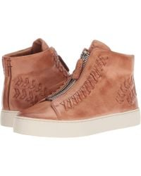 Frye - Lena Whip Zip High (dusty Rose Antique Pull Up) Women's Lace Up Casual Shoes - Lyst