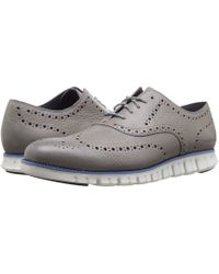 Cole Haan - Zerogrand Wingtip Oxford Leather (ironstone Leather/skyline/optic White) Men's Shoes - Lyst