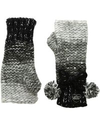 Betsey Johnson - Crystal Light Knit Fingerless Gloves - Lyst