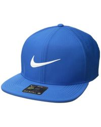 Nike - Aerobill Pro Cap Perf (blue Nebula/anthracite/white) Caps - Lyst