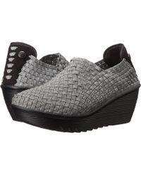 Bernie Mev - Gem (black/black Velvet) Women's Wedge Shoes - Lyst