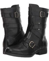 Born - Portia (black Full Grain) Women's Pull-on Boots - Lyst