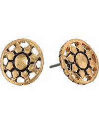 The Sak - Engraved Open Stud Earrings (gold) Earring - Lyst