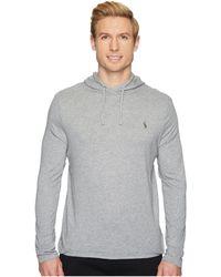 Polo Ralph Lauren - Hooded Jersey T-shirt (league Heather) Men's T Shirt - Lyst