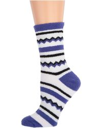 Karen Neuburger Zigzag Novelty Sock - Blue