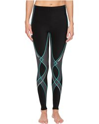 CW-X - Insulator Stabilyx Tights (black/grey/turquoise) Women's Workout - Lyst