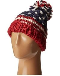 San Diego Hat Company - Knh3453 American Flag Beanie (red) Beanies - Lyst
