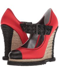 Bottega Veneta - Buckle Wedge (black/red) Women's Wedge Shoes - Lyst