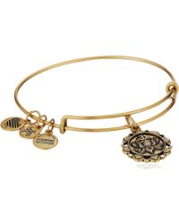 ALEX AND ANI - Lotus Peace Petals Iv Bangle - Lyst
