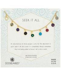 Dogeared - Seek It All, Multi Bezeled Gem Necklace (gold) Necklace - Lyst