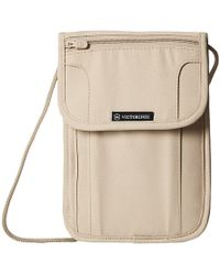 Victorinox - Deluxe Concealed Security Pouch With Rfid Protection (nude/black Logo) Travel Pouch - Lyst