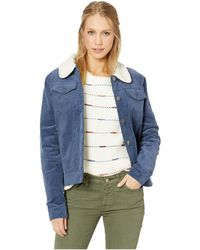Rip Curl - On Cord Jacket (navy) Women's Coat - Lyst