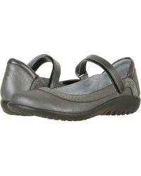 Naot - Tahi (shadow Gray Nubuck/gunmetal Rivets/metallic Road Leather) Women's Shoes - Lyst