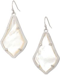 Kendra Scott - Alex Earring (rhodium/ivory Mother-of-pearl) Earring - Lyst