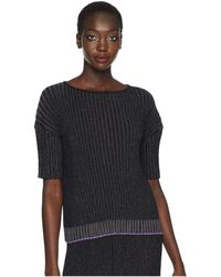 Paul Smith - Lurex Stripe Knitted Top (black/gold) Women's Clothing - Lyst