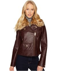 Marc New York - Beverly 20 Faux Bubble Leather Jacket (burgundy) Women's Coat - Lyst