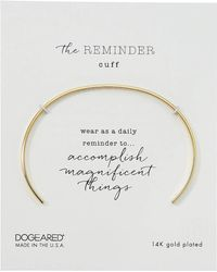 Dogeared - The Reminder Thin Engraved Cuff Bracelet, Take The Risk (gold) Bracelet - Lyst