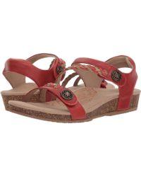 000b43dbf8f Aetrex - Jillian Quarter Strap (blush) Women s Sandals - Lyst