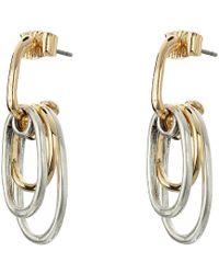 Robert Lee Morris - Two-tone Circle Shaky Earrings (two-tone) Earring - Lyst