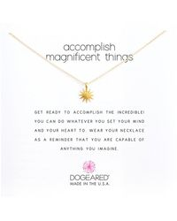 Dogeared - Accomplish Magnificent Things Necklace 16 (silver) Necklace - Lyst