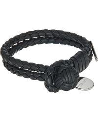 Bottega Veneta - Intrecciato Leather Bracelet (black) Bracelet - Lyst