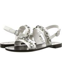 25ba7271764 COACH - Eden Flat Sandal With Signature Chain (off-white) Women s Sandals -