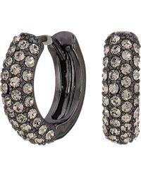 Lauren by Ralph Lauren - 11.5 Mm Pave Huggie Earrings (jet) Earring - Lyst