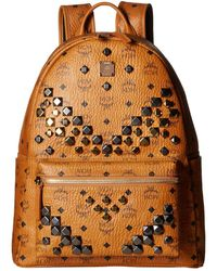 MCM - Stark M Stud Medium Backpack (cognac) Backpack Bags - Lyst