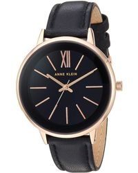 Anne Klein - Ak-3252rgbk (black) Watches - Lyst
