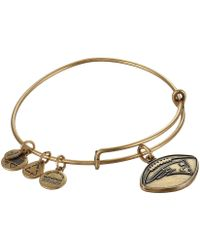 ALEX AND ANI | New England Patriots Football Charm Bangle | Lyst