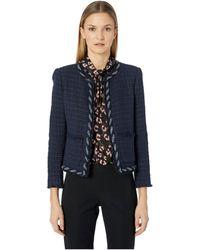 Rebecca Taylor - Tweed Jacket (dark Violet) Women's Clothing - Lyst