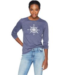 Life Is Good. - Lig Compass Cool Long Sleeve T-shirt (darkest Blue) Women's T Shirt - Lyst