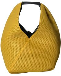 MM6 by Maison Martin Margiela Mini Jersey Net Bag - Yellow