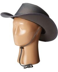 Stetson - Mesh Covered Safari With Chin Cord - Lyst