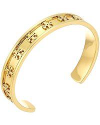 Tory Burch | Raised Logo Cuff Bracelet | Lyst