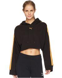 c171f465418 PUMA - X Fenty By Rihanna Hooded Long Sleeve Cropped Sweatshirt ( Black) Women s  Sweatshirt