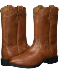 Ariat - Heritage Roper (distressed Brown) Cowboy Boots - Lyst