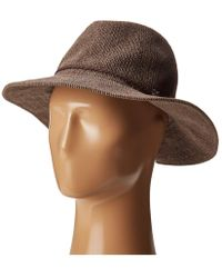 San Diego Hat Company - Cth8078 Knit Fedora With Braided Faux Suede - Lyst