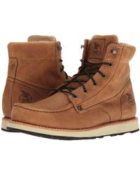 Georgia Boot - Small Batch 6 Moc Toe Wedge (brown) Men's Work Boots - Lyst